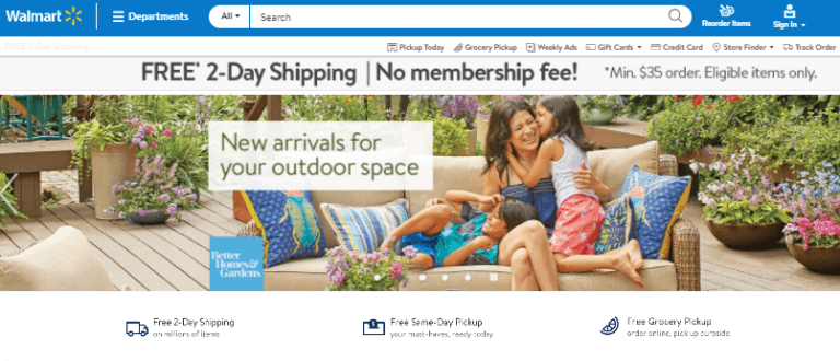 Screenshot Of Walmart.com Where you can sign up to the affiliate program for free