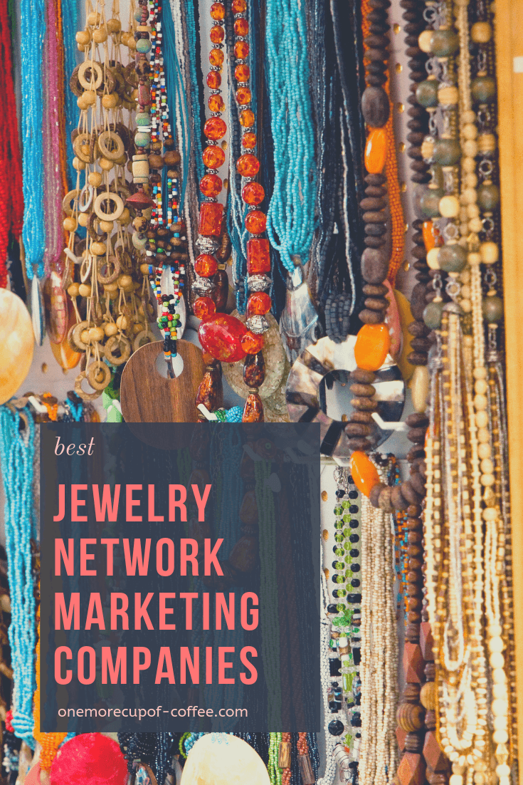 "wide variety of jewelry hanging in open market with the phrase ""best jewelry network marketing companies"""