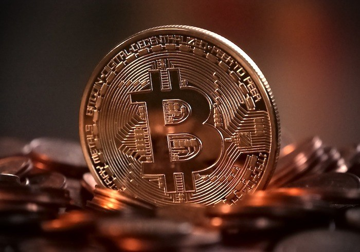 large bitcoin graph representing ways to make money online