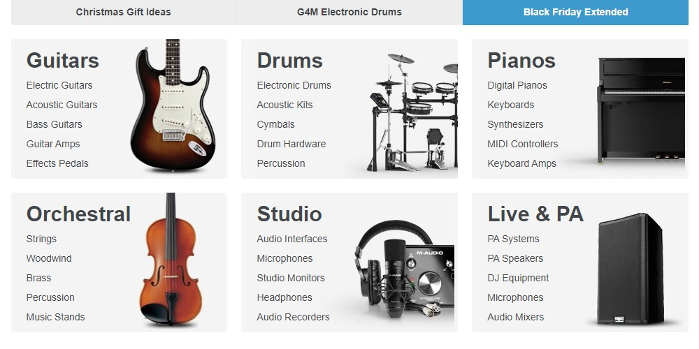 gear 4 music home page