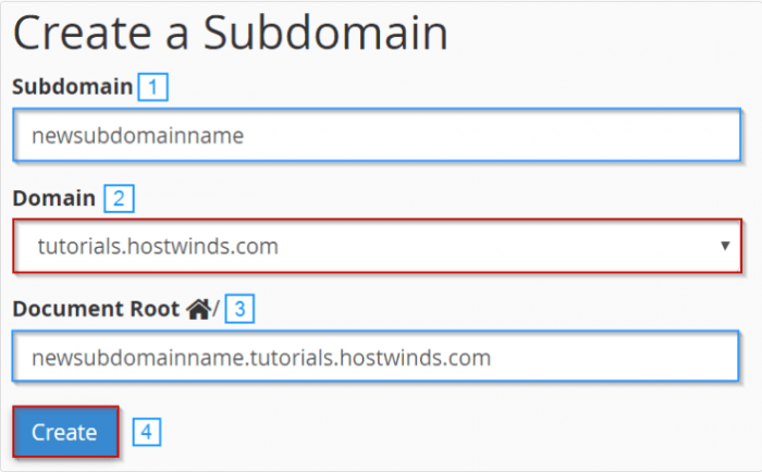 screenshot of an example of what a subdomain is. something.yourdomain.com