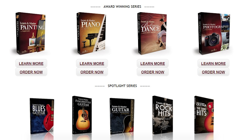legacy learning systems home page