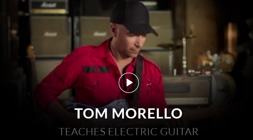 master class electric guitar course page