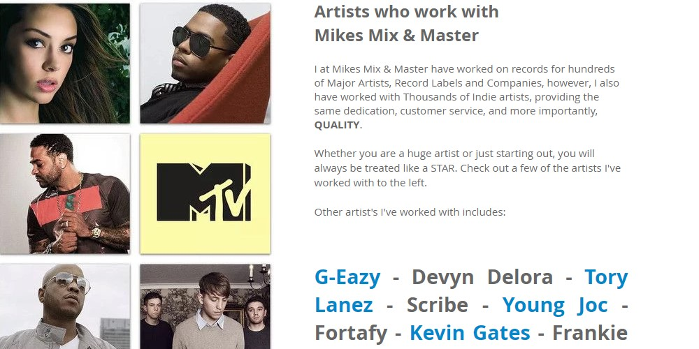 mikes mix master home page