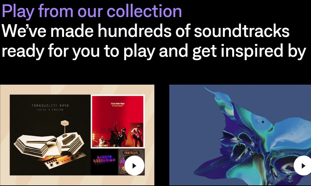 soundtrack your brand home page
