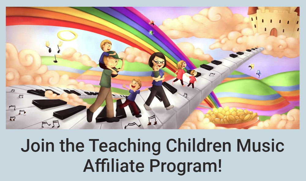 teaching children music affiliate sign up page