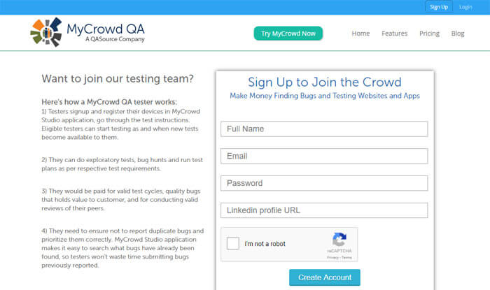 Becoming A Tester On MyCrowd