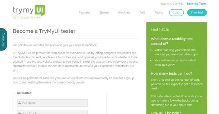 Becoming A User Tester On TryMyUi