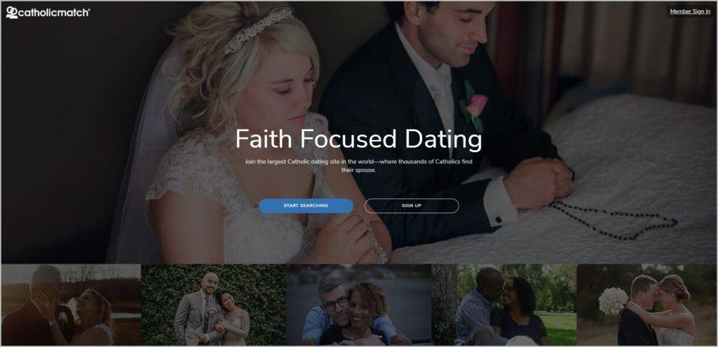 screenshot of CatholicMatch web page