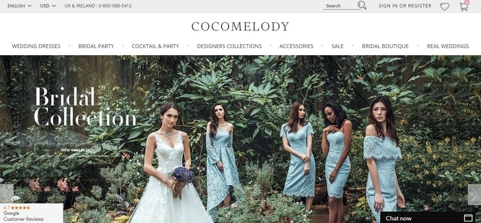 screenshot of the affiliate sign up page for CocoMelody