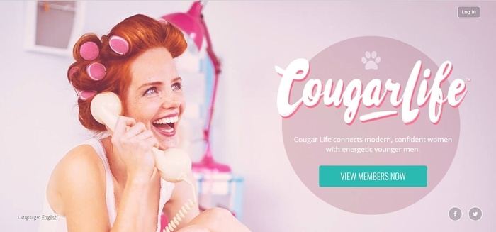 screenshot of the affiliate sign up page for Cougar Life