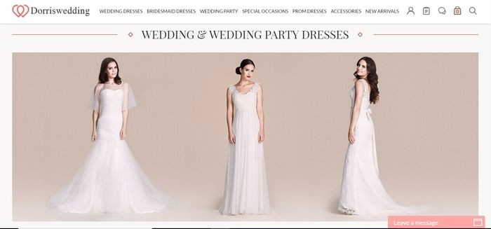 screenshot of the affiliate sign up page for Dorriswedding