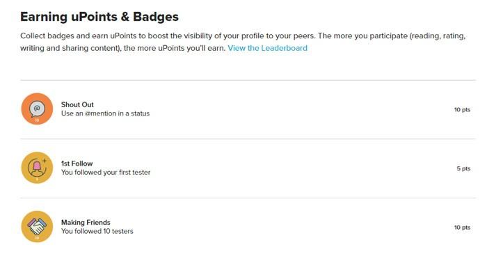 Earning Badges On UTest
