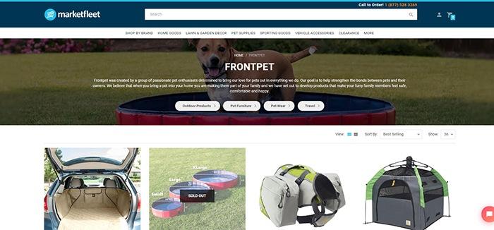 screenshot of Frontpet Affiliate Program page
