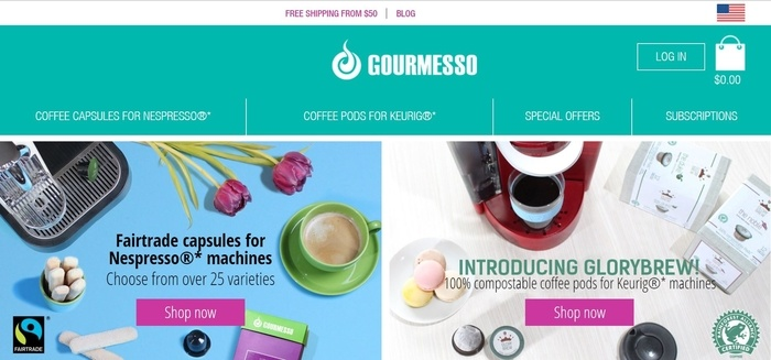 screenshot of the affiliate sign up page for Gourmesso