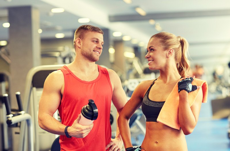 Image of a couple in a gym.