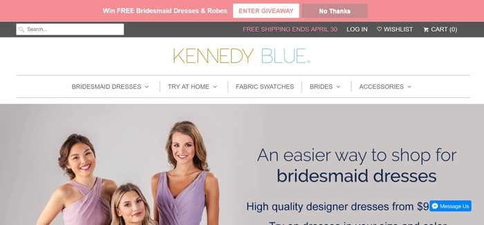 screenshot of the affiliate sign up page for Kennedy Blue