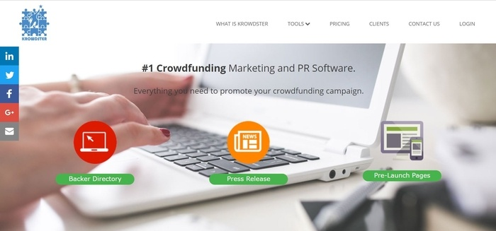 screenshot of the affiliate sign up page for Krowdster-Affiliate-Program