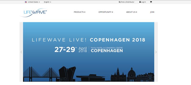 Lifewave screenshot showing a stylized skyline of Copenhagen.