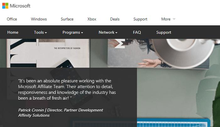 Microsoft Affiliate Program Review
