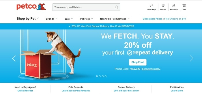 screenshot of the affiliate sign up page for Petco