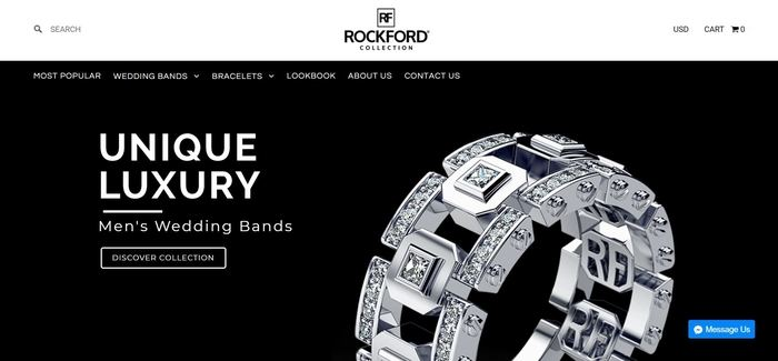 screenshot of the affiliate sign up page for Rockford Collection