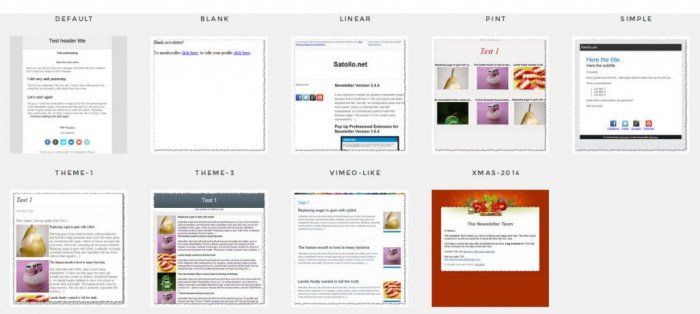 A collection of newsletter types/formats that you can implement through The Newsletter Plugin.