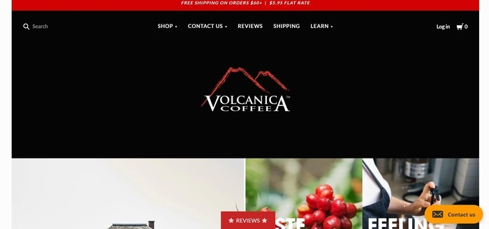 screenshot of the affiliate sign up page for Volcanica