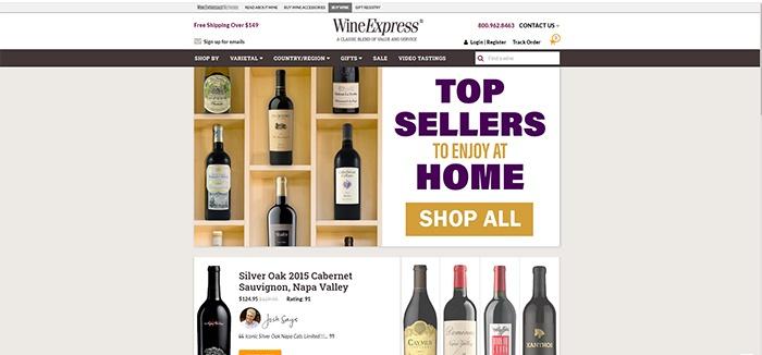screenshot of WineExpress Affiliate Program page