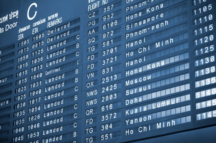 airport schedule showing flights all over the world to represent the best Appointment Booking plugins for wordpress