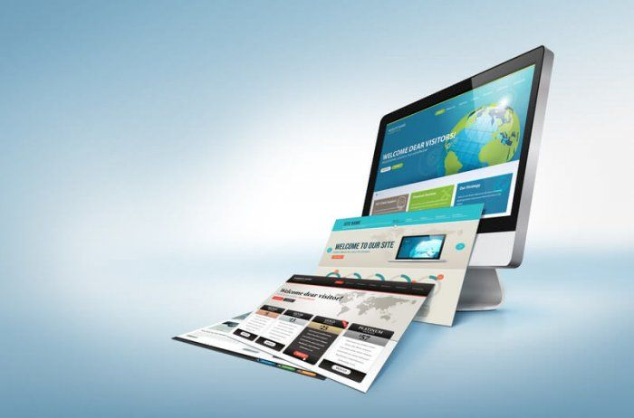 image of iMac style computer with multiple screens falling off representing the best Mega Menus plugins for wordpress