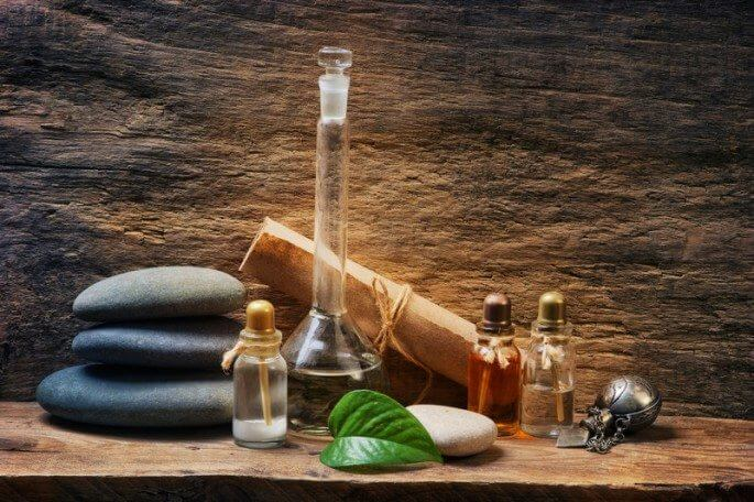 healing stones, natural leaf, and medicine bottles representing the best Natural Health Affiliate Programs