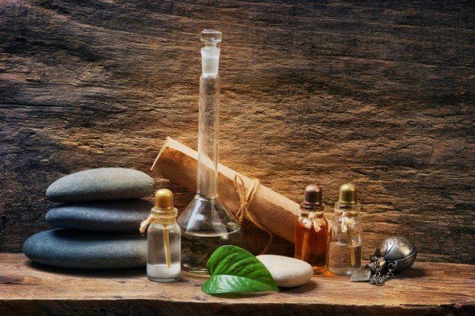 healing stones, natural leaf, and medicine bottles representing the best Natural Health Affiliate Programs