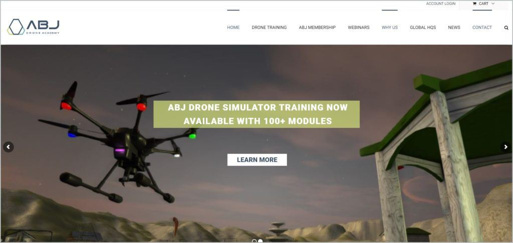 screenshot of ABJ Drone Academy webpage