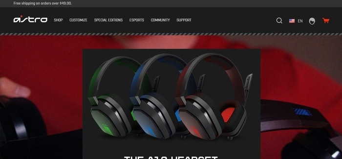 screenshot of the affiliate sign up page for ASTRO Gaming