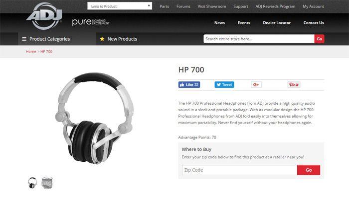 American Audio HP 700 Headphones