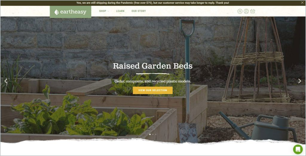 screenshot of Eartheasy web page