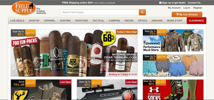 screenshot of the affiliate sign up page for Field Supply