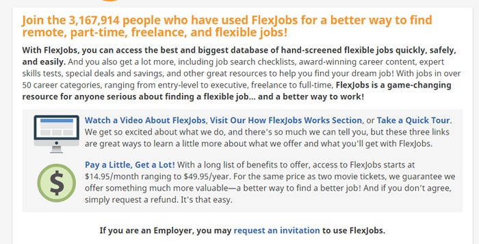 How Much FlexJobs Costs