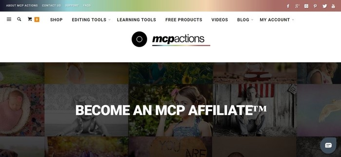 screenshot of the affiliate sign up page for MCP Actions
