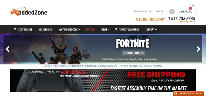 screenshot of the affiliate sign up page for ModdedZone