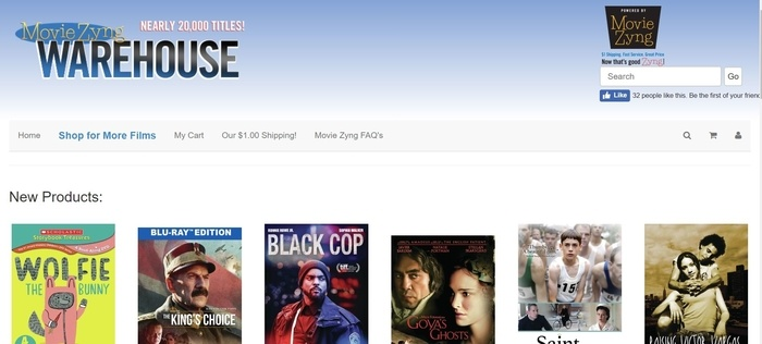 screenshot of the affiliate sign up page for Movie Zyng