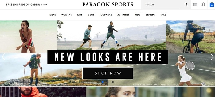screenshot of the affiliate sign up page for Paragon Sports