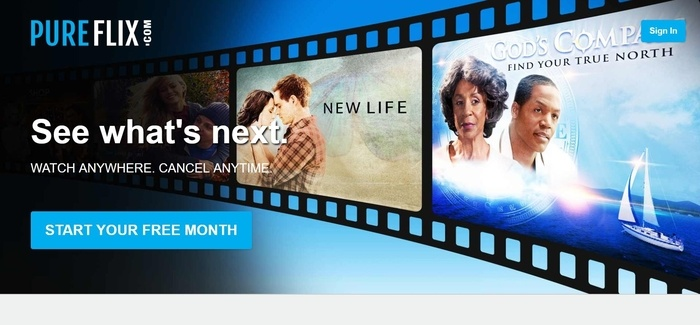 screenshot of the affiliate sign up page for Pure Flix Digital