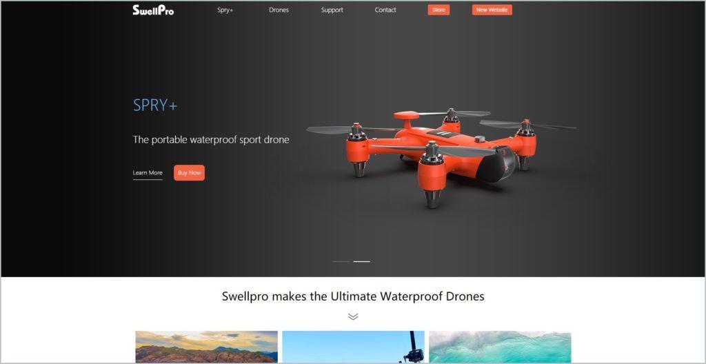 screenshot of SwellPro web page