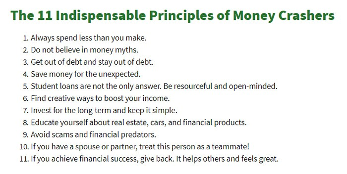 11 Principles Of Money Crashers
