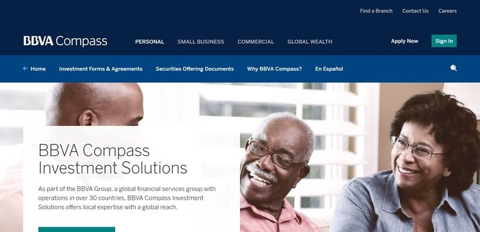 screenshot of the affiliate sign up page for BBVA Compass