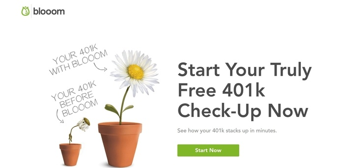 screenshot of the affiliate sign up page for Blooom