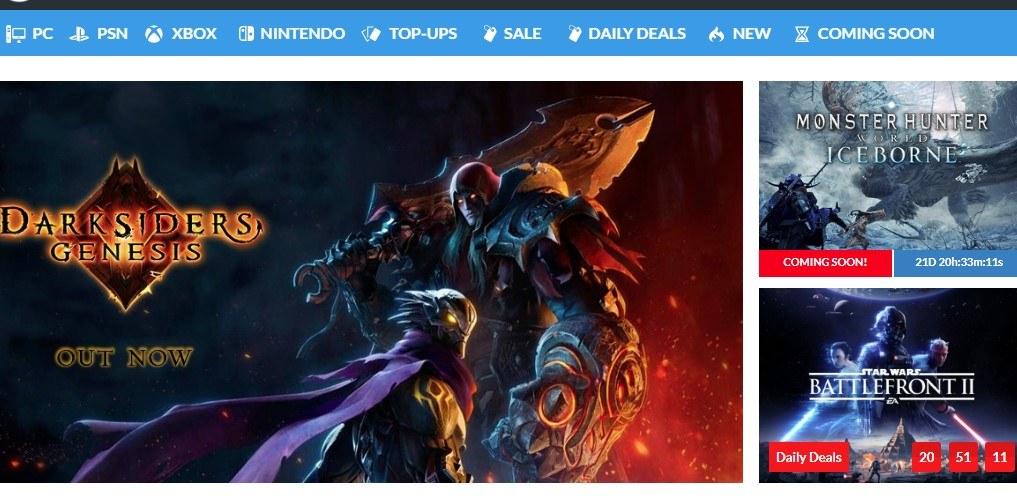 CDKeys home page