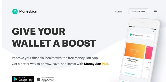 screenshot of the affiliate sign up page for MoneyLion